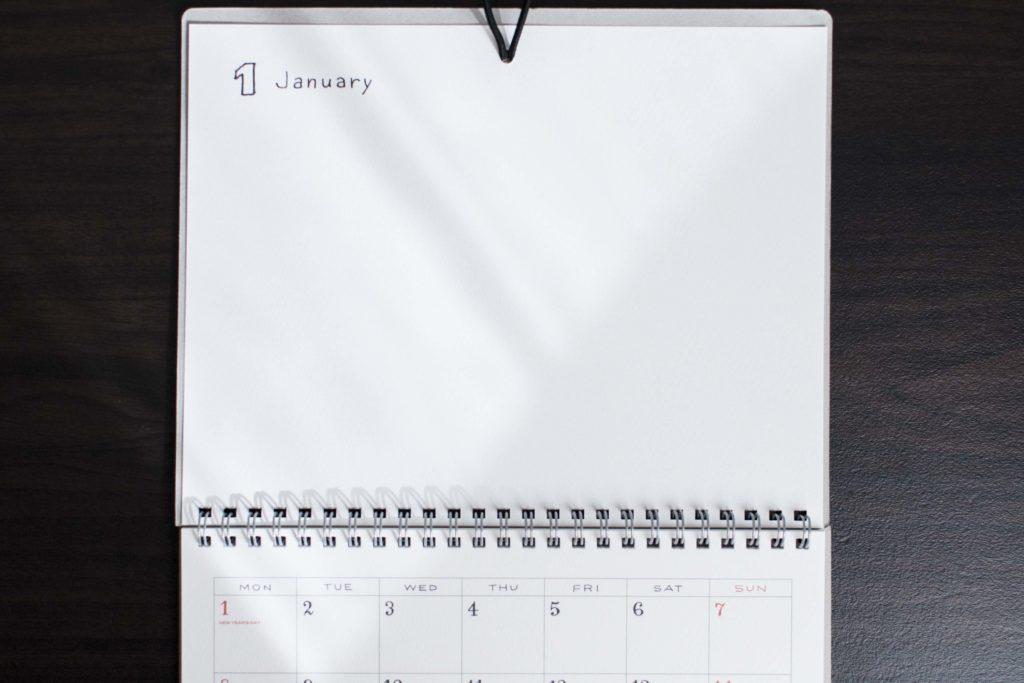 スケッチカレンダーアップ