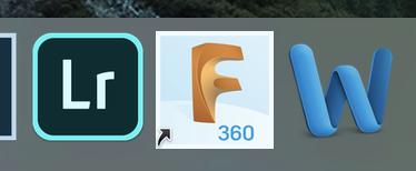 Fusion360のアプリケーションアイコン