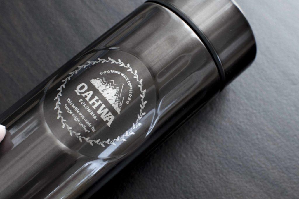 Qahwa(カフア)コーヒーボトルのアップ画像