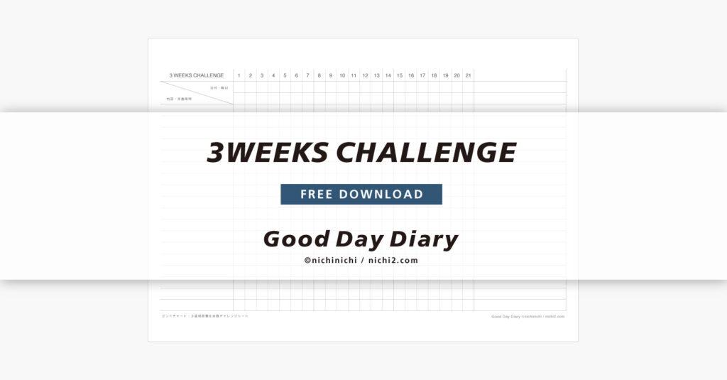 3週間習慣化チャレンジ実践シートのアイキャッチ画像