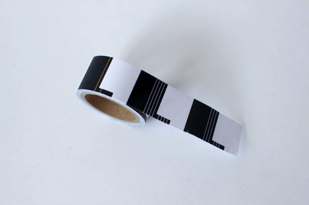 マルマン・二ーモシネ・ロール付箋タブ型(テープが出た状態)