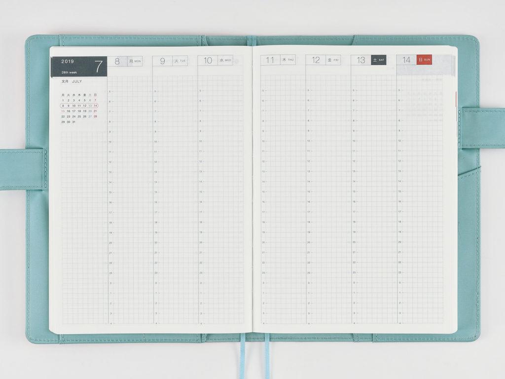 ほぼ日手帳の週間バーチカルイメージ