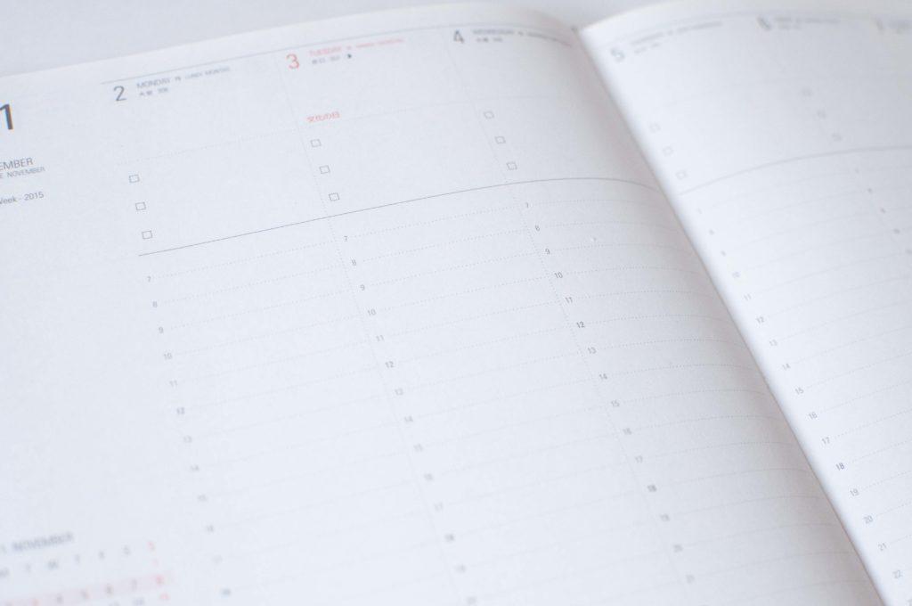 バーチカル型手帳のイメージ