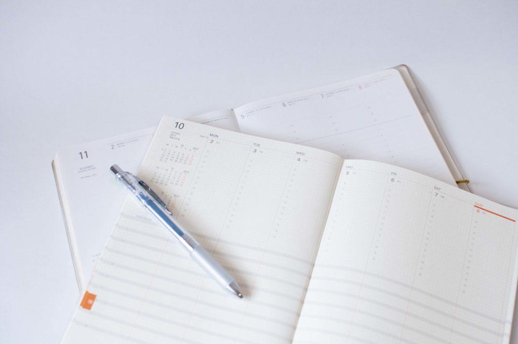 週間バーチカル型手帳イメージ