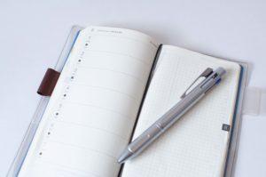 週間レフト型手帳のイメージ画像
