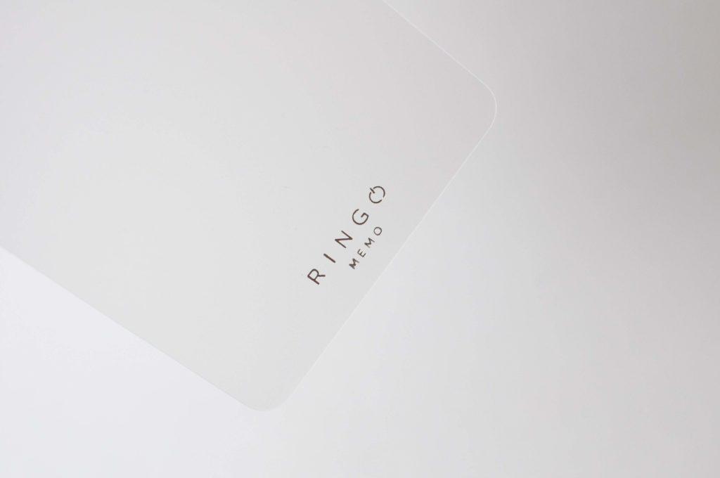 アピカ・リングが開くメモRINGO(表紙のロゴ)