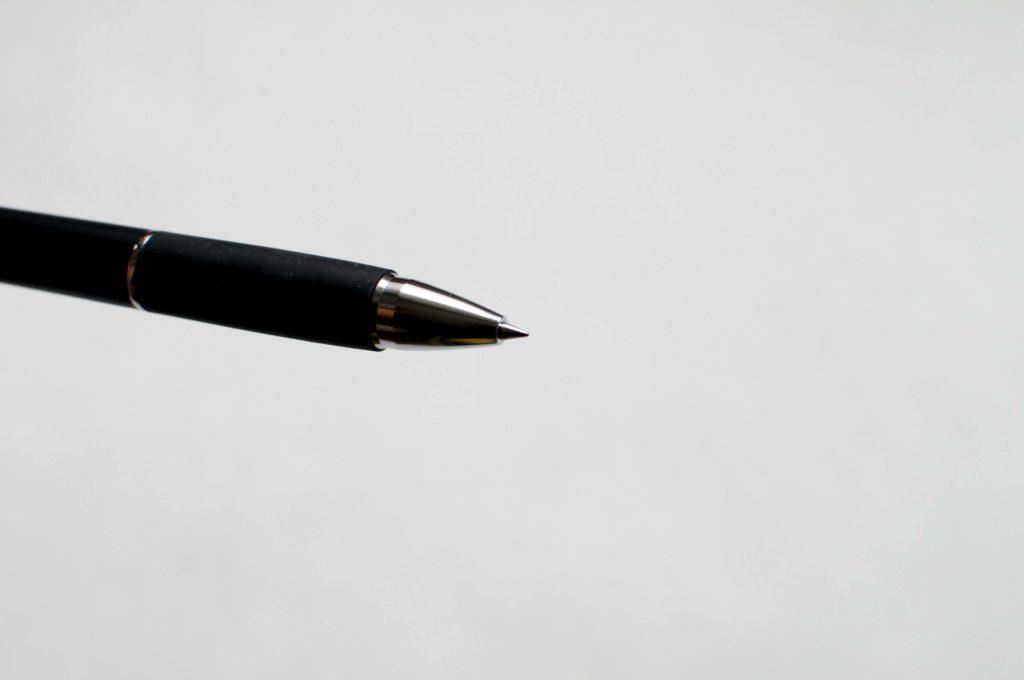 三菱鉛筆・uni・JETSTREAM3色ボールペン(ペン先イメージ)
