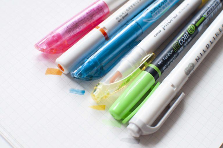 おすすめ蛍光ペン・カラーマーカーまとめイメージ画像