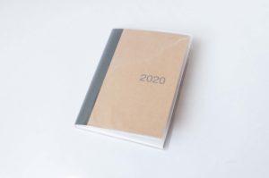無印良品・上質紙クラフト表紙マンスリーノート・A6(全体イメージ)