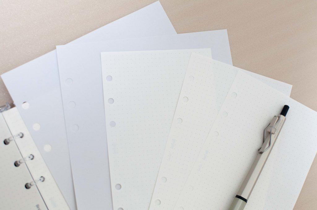 システム手帳リフィル 用紙おすすめまとめイメージ